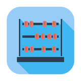 Abacus. Single flat color icon. Vector illustration royalty free illustration