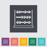 Abacus. Single flat icon Vector illustration Royalty Free Stock Photo