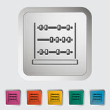 Abacus. Single icon Vector illustration royalty free illustration