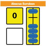 Abacus Soroban kids learn numbers with abacus, math worksheet for children. Vector Illustration Royalty Free Stock Images