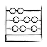Abacus icon. Abacus thin line  icon Royalty Free Stock Photos