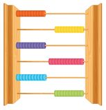 An abacus on whute background. Illustration vector illustration