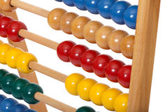 Abacus with wooden balls Stock Photography