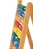 Abacus with wooden balls Stock Image