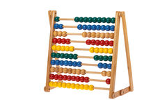 Abacus with wooden balls Royalty Free Stock Images