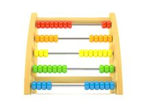 Abacus. Wooden abacus isolated on white background Royalty Free Stock Photos