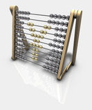 Abacus Yen. 3d rendering of an abacus with a yen symbol Royalty Free Stock Images