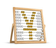 Abacus yen golden. Abacus with yen sign isolated on white background royalty free illustration