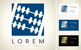 Abacuses logo. Beautiful vector illustration Stock Photo