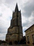 Abadía antigua de Emilion sant en Francia Imagenes de archivo