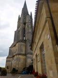 Abadía antigua de Emilion sant en Francia Imagen de archivo