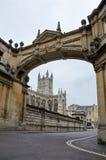 Abadía antigua del arco y del baño, baño, Reino Unido Imagen de archivo