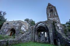 Abadía antigua en ruinas, el monasterio de Santa Maria en Valle Christi situado en Valle Christi, en Rapallo, provi de Genoa Geno Fotografía de archivo libre de regalías