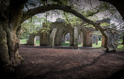 Abadía arruinada parque de Margam Imagenes de archivo