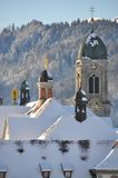 Abadía benedictina de Einsiedeln Foto de archivo