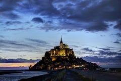 Abadía benedictina de Mont St Michel en Normandía, Francia Imagen de archivo