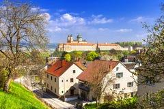 Abadía benedictina en Melk, Austria Foto de archivo