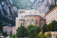 Abadía benedictina en Montserrat Imagenes de archivo