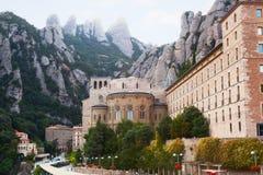 Abadía benedictina en Montserrat Imagen de archivo libre de regalías