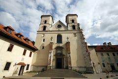 Abadía benedictina en Tyniec Imagen de archivo libre de regalías