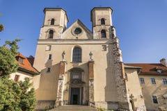 Abadía benedictina en Tyniec Foto de archivo