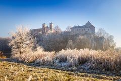 Abadía benedictina en Tyniec Imagenes de archivo