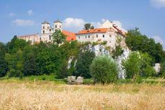 Abadía benedictina en Tyniec cerca de Cracovia, Polonia Imagen de archivo libre de regalías