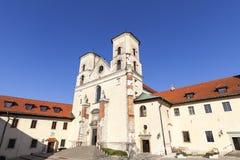 Abadía benedictina en Tyniec cerca de Kraków, Polonia Foto de archivo