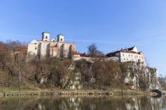 Abadía benedictina en Tyniec cerca de Kraków, Polonia Fotografía de archivo