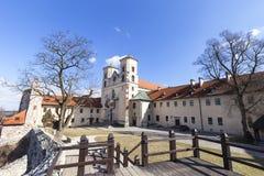 Abadía benedictina en Tyniec cerca de Kraków, santos Peter y Paul Church, Polonia Imagen de archivo