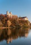 Abadía benedictina en Tyniec en caída, Kraków, Polonia Fotos de archivo libres de regalías