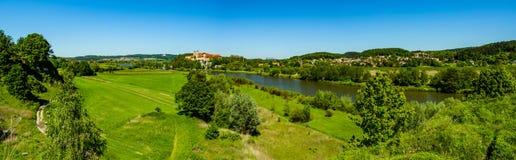 Abadía benedictina en Tyniec en el río el Vístula Imagenes de archivo