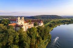 Abadía benedictina en Tyniec, Polonia Foto de archivo