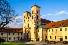 Abadía benedictina en Tyniec, Polonia Imagen de archivo