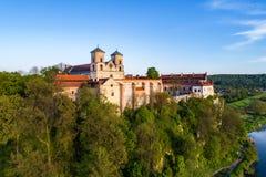Abadía benedictina en Tyniec, Polonia Foto de archivo libre de regalías