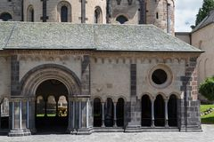 Abadía benedictina medieval en Maria Laach, Alemania Fotos de archivo