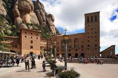 Abadía benedictina Santa Maria de Montserrat Fotografía de archivo