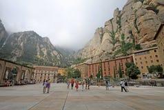 Abadía benedictina Santa Maria de Montserrat en Monistrol de Montserrat, España Fotografía de archivo libre de regalías