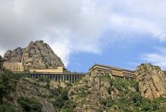 Abadía benedictina Santa Maria de Montserrat en Monistrol de Montserrat, España Imágenes de archivo libres de regalías
