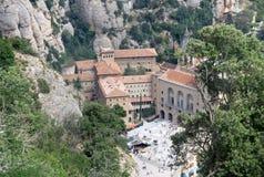 Abadía benedictina Santa Maria de Montserrat en Monistrol de Montserrat, España Imagenes de archivo