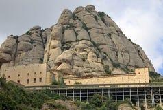 Abadía benedictina Santa Maria de Montserrat en Monistrol de Montserrat, España Fotografía de archivo