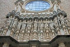 Abadía benedictina Santa Maria de Montserrat en Monistrol de Montserrat, España Detalles de la iglesia Imagen de archivo libre de regalías
