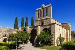 Abadía cerca de Kyrenia, Chipre septentrional de Bellapais Foto de archivo libre de regalías