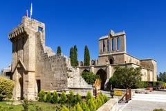 Abadía cerca de Kyrenia, Chipre septentrional de Bellapais Imagen de archivo libre de regalías