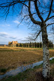 Abadía cisterciense de San Galgano cerca de Chiusdino, Toscana, Italia Imagen de archivo