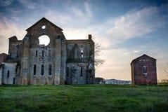Abadía cisterciense de San Galgano cerca de Chiusdino, Toscana, Italia Fotografía de archivo