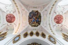 Abadía cisterciense de Stams en Imst, Austria Foto de archivo