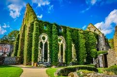 Abadía cisterciense de Villers Foto de archivo libre de regalías