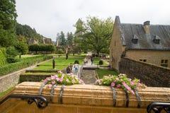 Abadía cisterciense del trapista orval de la cerveza de Notre Dame Bélgica Imagen de archivo