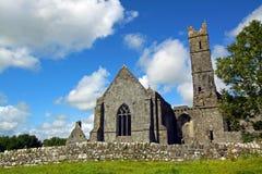 Abadía Co. Clare Irlanda de Quin Foto de archivo